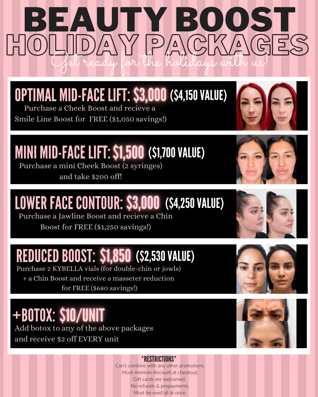 Beauty Boost Holiday Packages